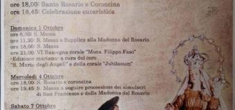 Festeggiamenti in onore di Maria SS. del Rosario 2017