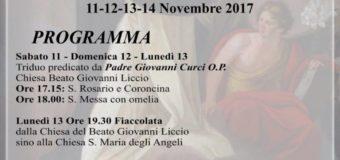 """Festeggiamenti in onore del Beato Giovanni Liccio – Chiesa """"Fuori le mura"""""""