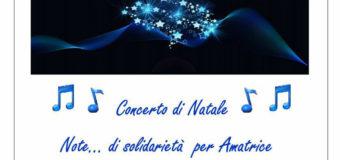 """Concerto di Natale """"Note… di solidarietà per Amatrice"""""""