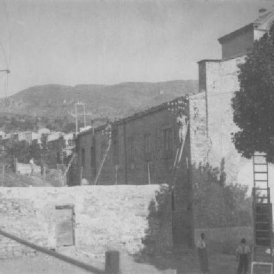 """Antiche mure dell'orto """"degli angeli"""" oggi non più esistenti (foto XIX sec.)"""