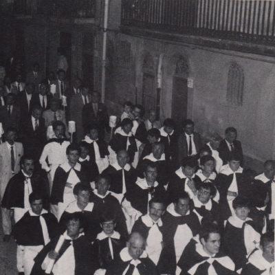Processione del Beato, fedeli in abito domenicano (foto anni '80)