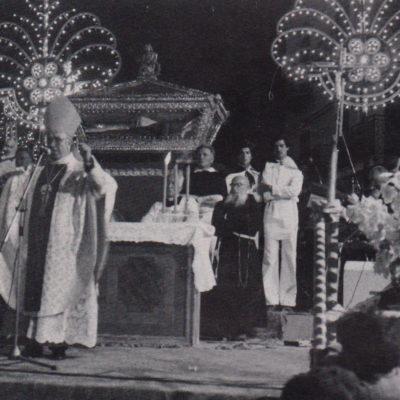 Festeggiamenti del Beato, Celebrazione presieduta da S.E.R. Mons. Vincenzo Cirrincione (anno 1981)