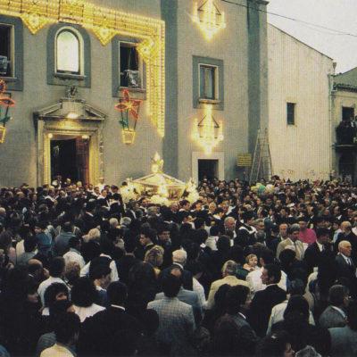 Uscita dell'urna argentea del Beato (foto primi anni '90)
