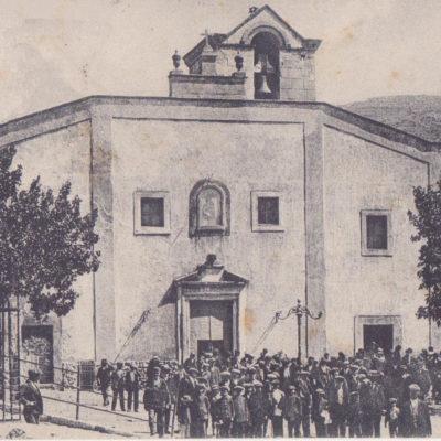 Prospetto della Chiesa Santa Maria degli Angeli in una foto risalente agli inizi del XX sec.