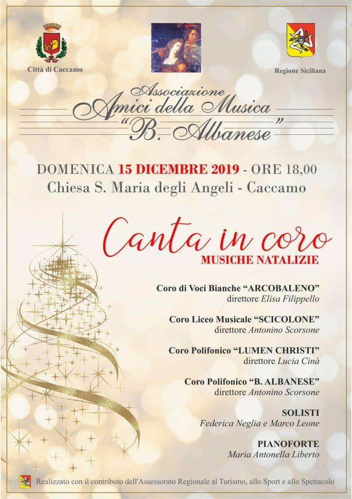 Canta in coro, musiche natalizie