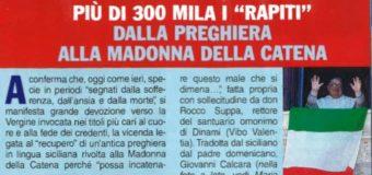 Coronavirus: da Milano a Palermo l'antica preghiera alla Madonna della Catena
